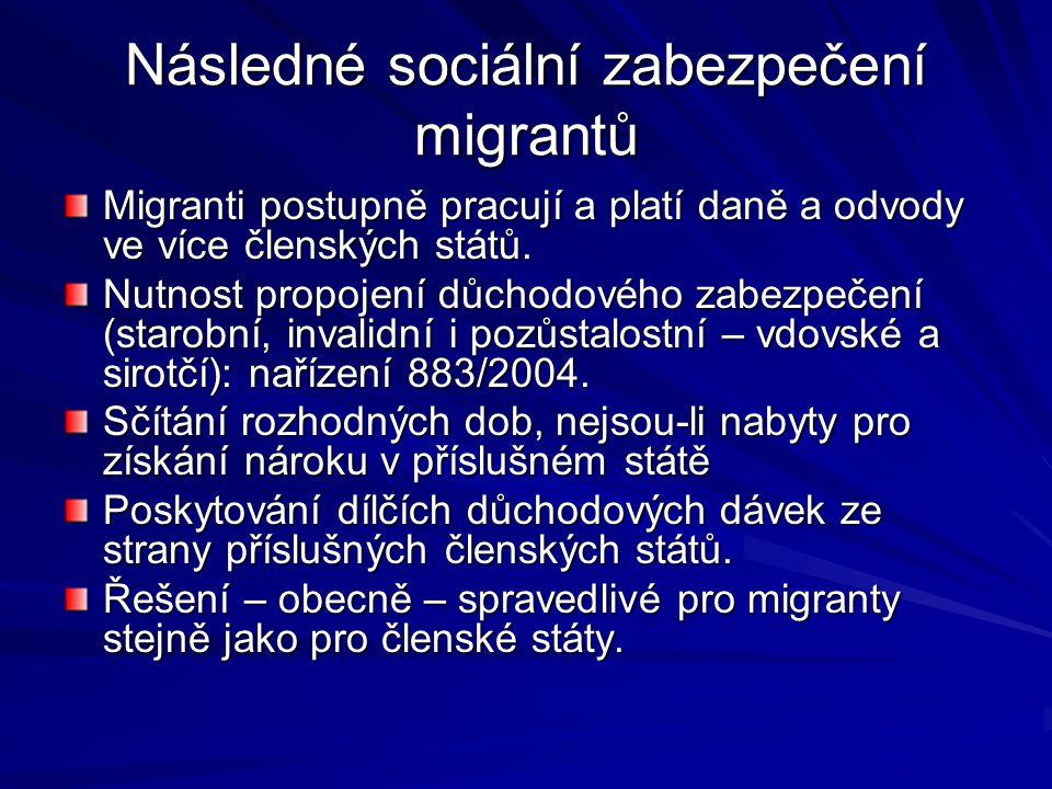 Následné sociální zabezpečení migrantů