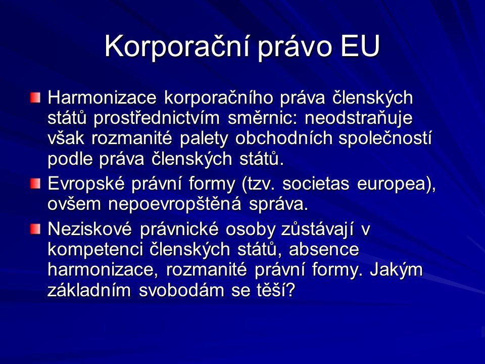 Korporační právo EU