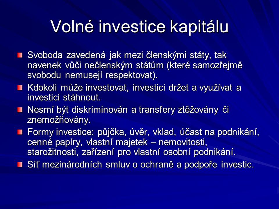 Volné investice kapitálu