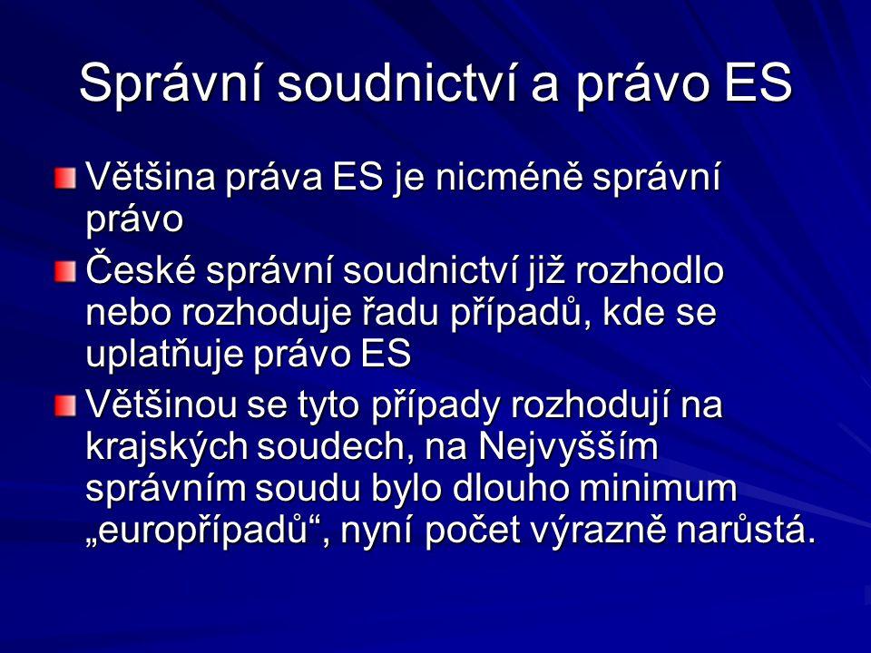 Správní soudnictví a právo ES