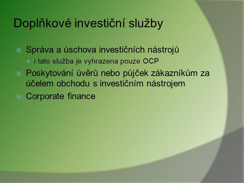 Doplňkové investiční služby