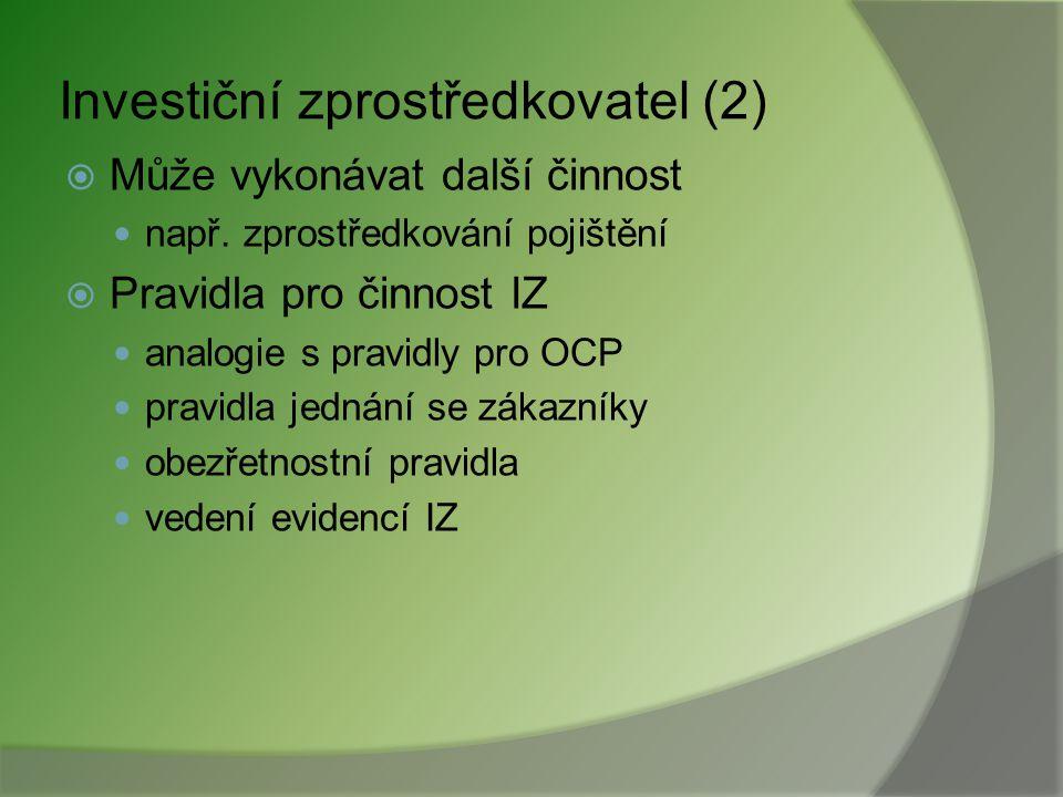Investiční zprostředkovatel (2)