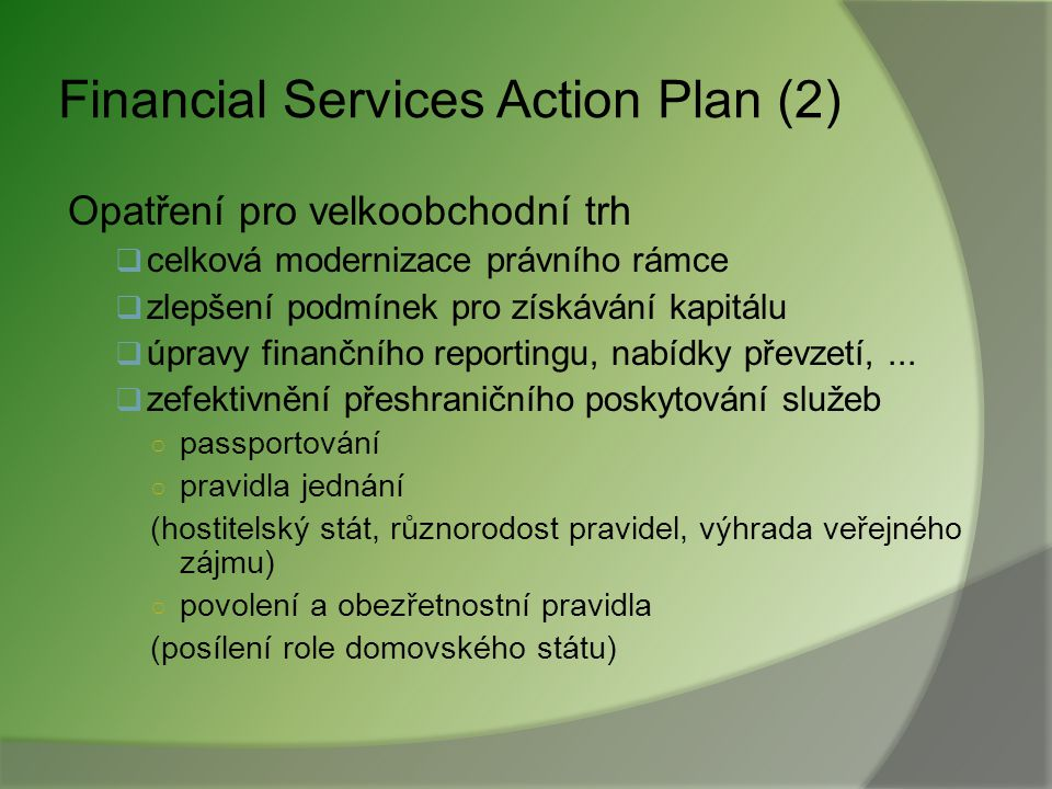 Financial Services Action Plan (2)