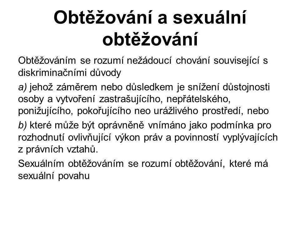Obtěžování a sexuální obtěžování