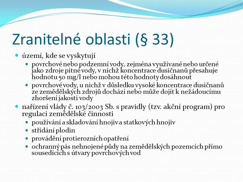 Zranitelné oblasti (§ 33)