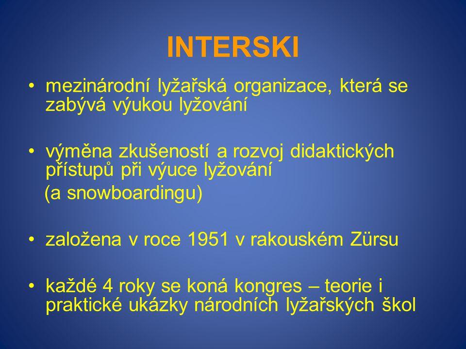 Interski mezinárodní lyžařská organizace, která se zabývá výukou lyžování. výměna zkušeností a rozvoj didaktických přístupů při výuce lyžování.