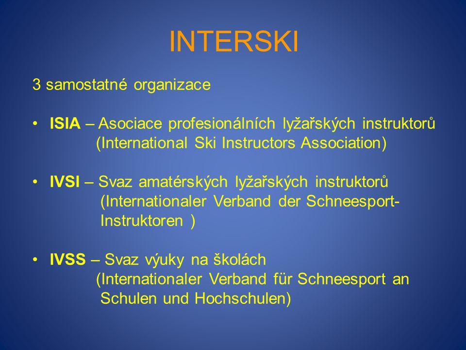 Interski 3 samostatné organizace