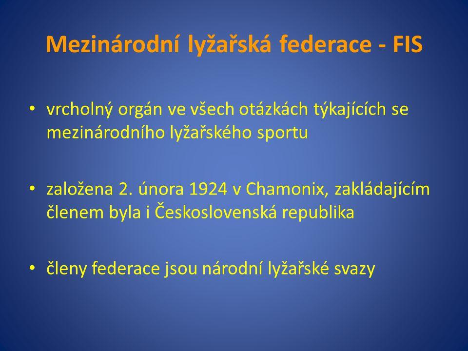 Mezinárodní lyžařská federace - FIS