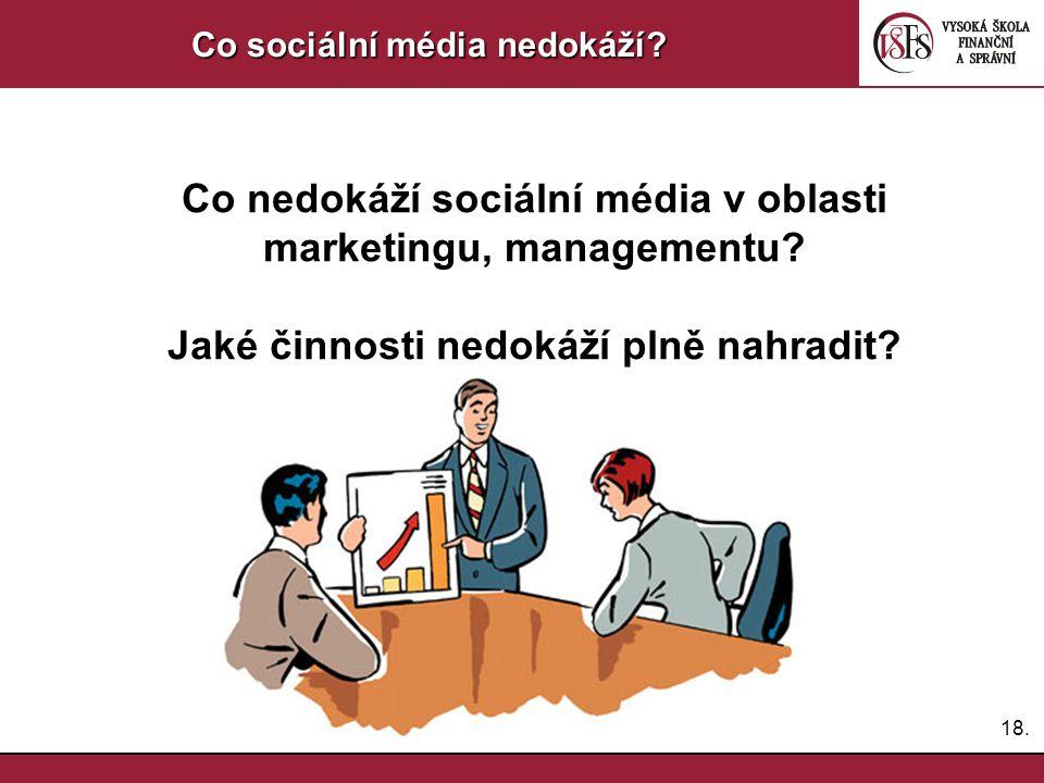 Co nedokáží sociální média v oblasti marketingu, managementu