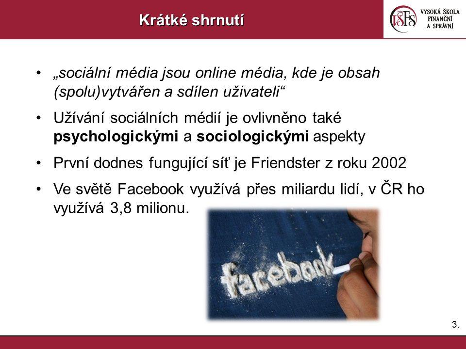 První dodnes fungující síť je Friendster z roku 2002