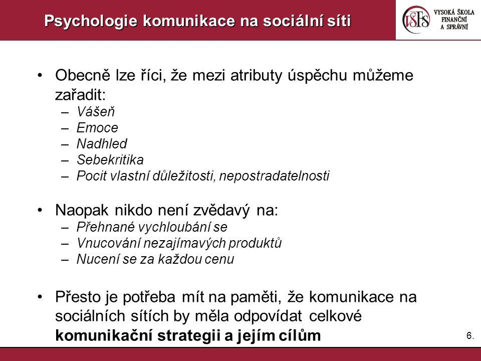 Psychologie komunikace na sociální síti