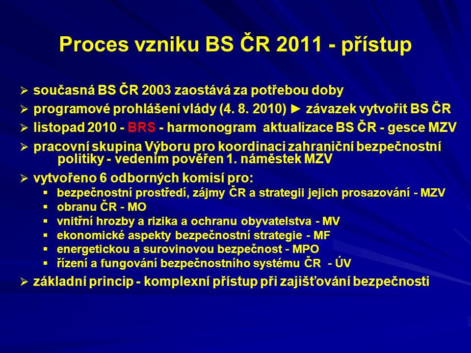 Proces vzniku BS ČR 2011 - přístup