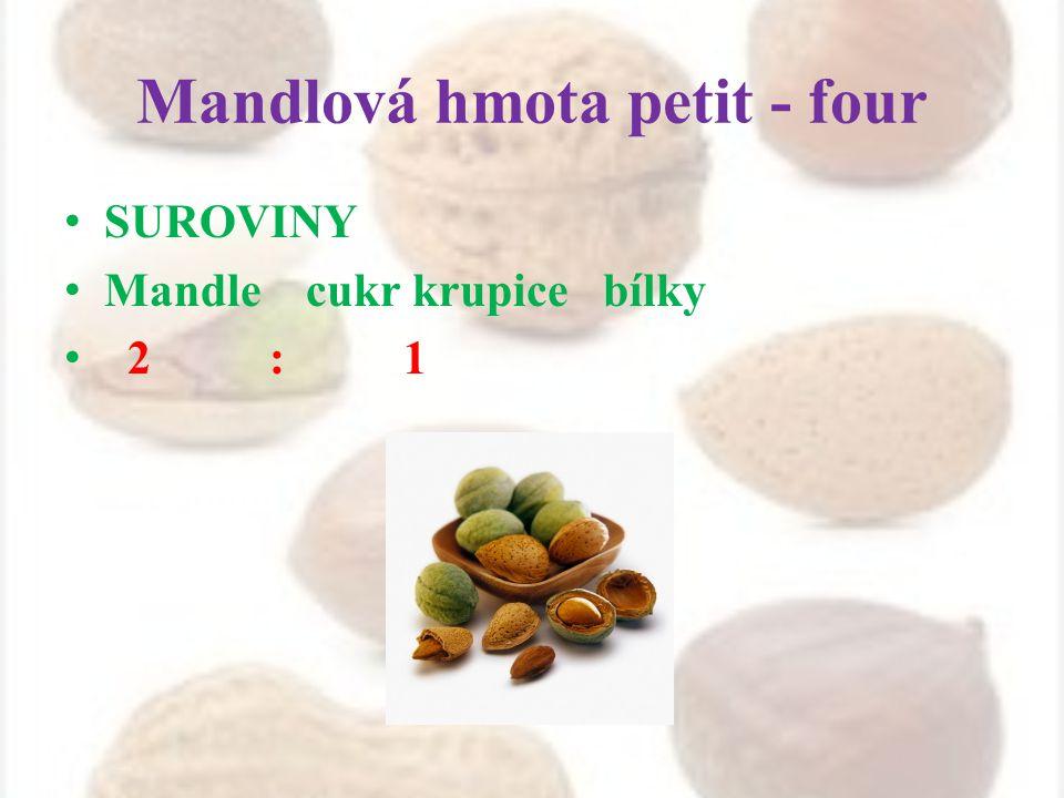 Mandlová hmota petit - four