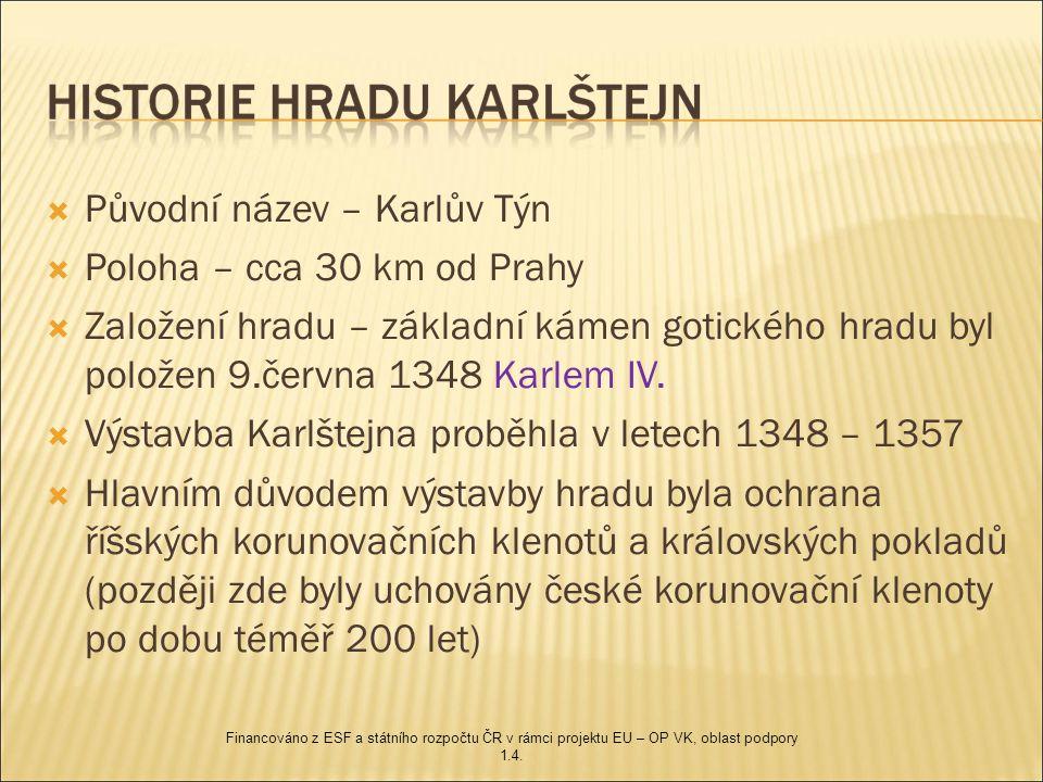 Původní název – Karlův Týn Poloha – cca 30 km od Prahy