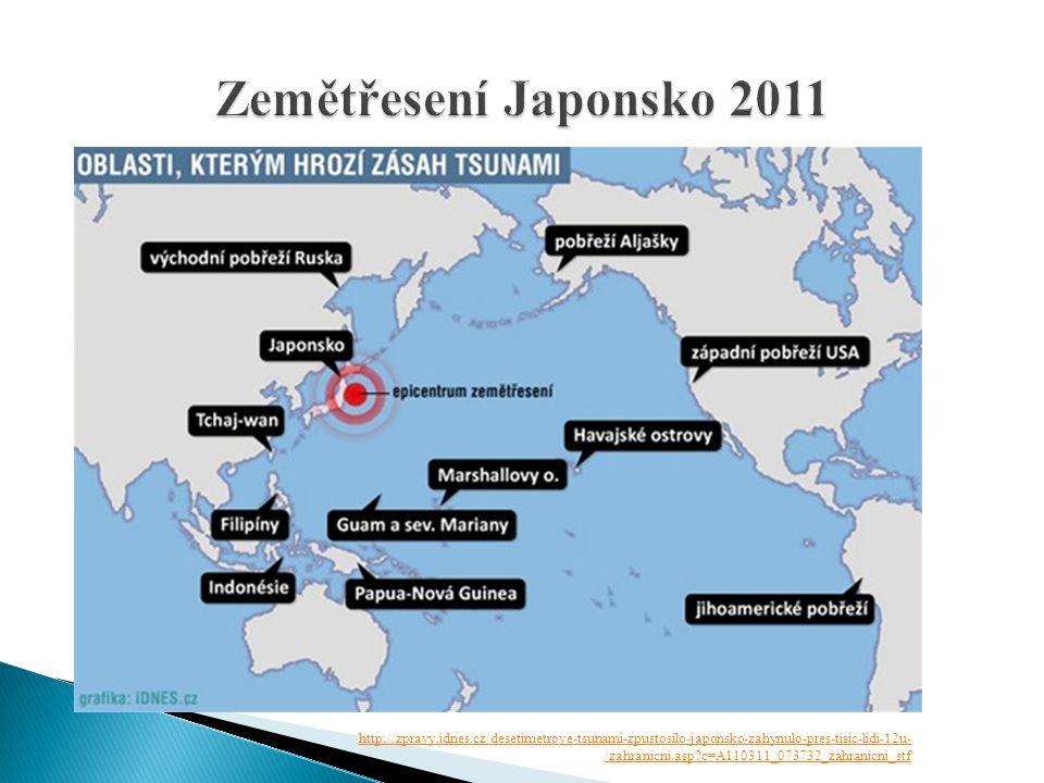 Zemětřesení Japonsko 2011