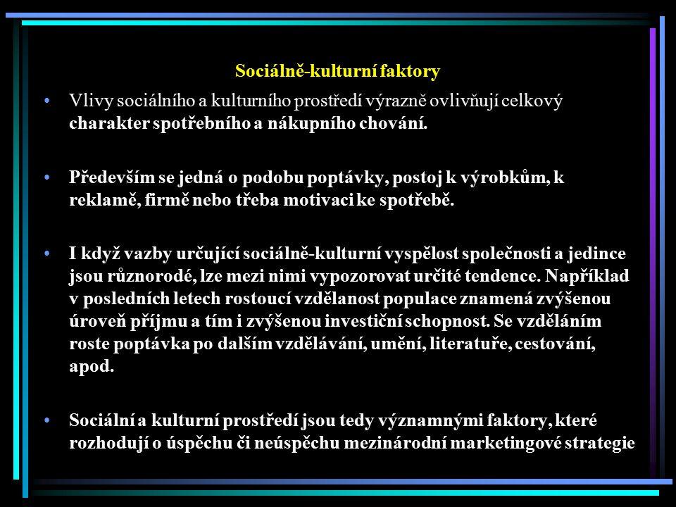 Sociálně-kulturní faktory