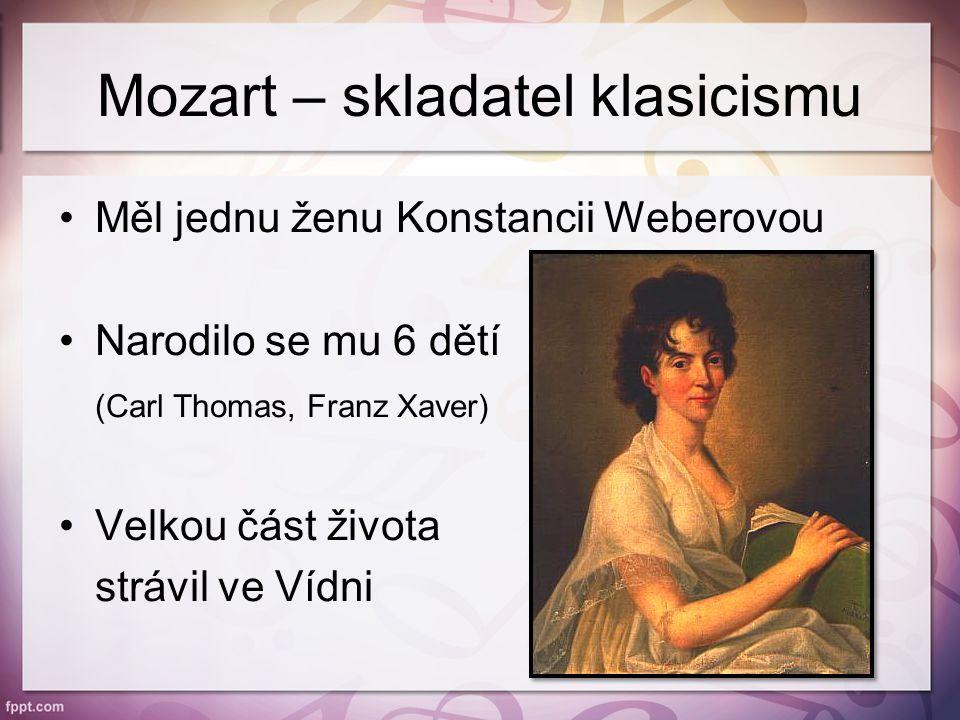 Mozart – skladatel klasicismu