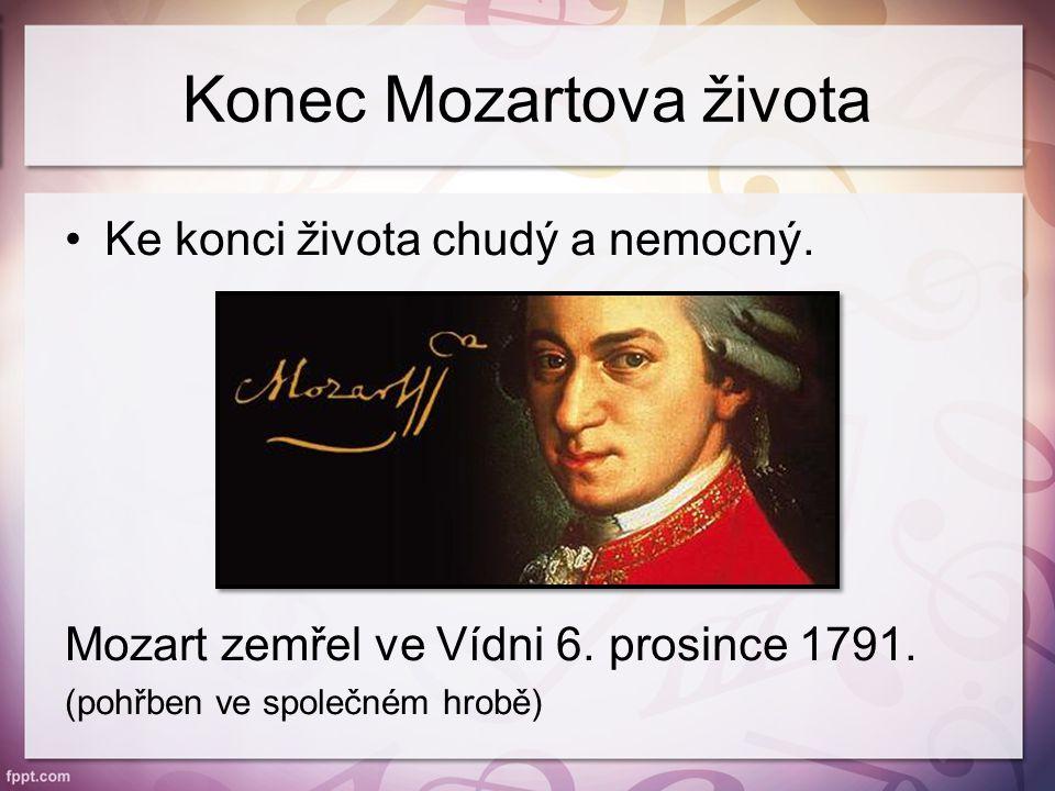Konec Mozartova života