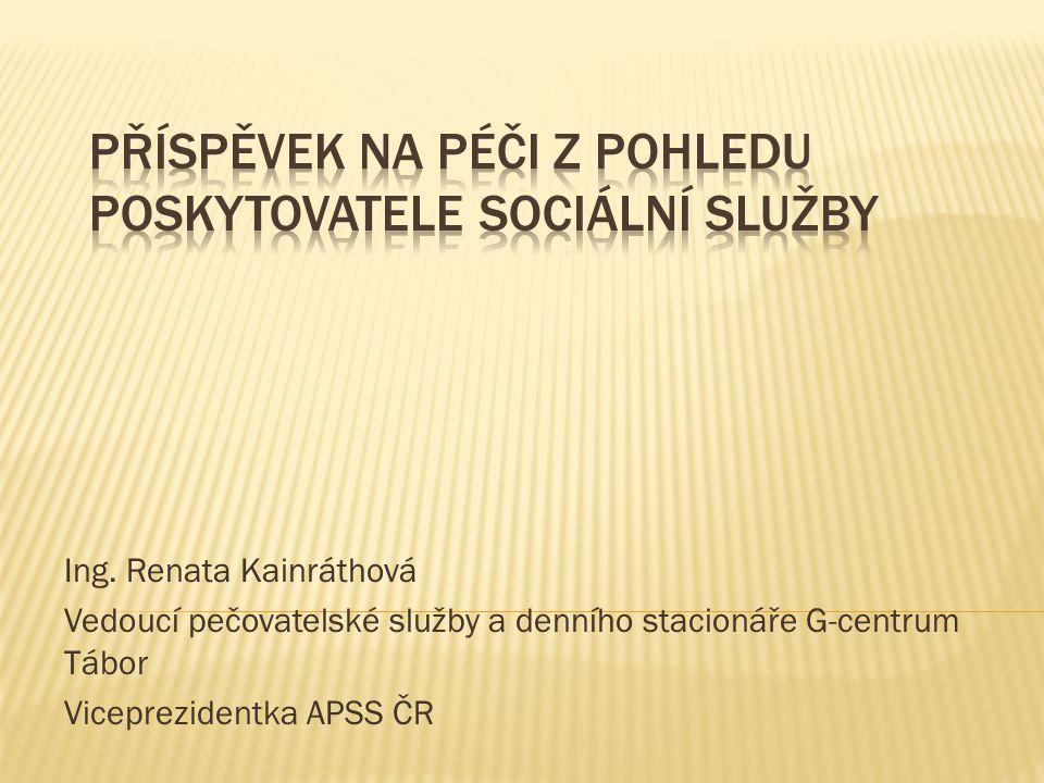 Příspěvek na péči z pohledu poskytovatele sociální služby