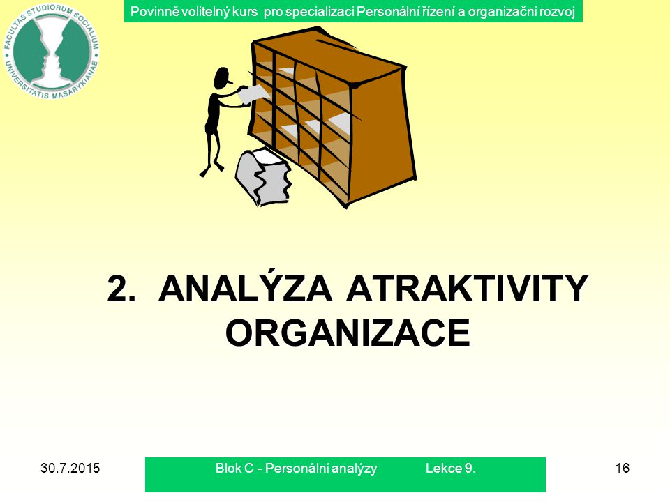 2. ANALÝZA ATRAKTIVITY ORGANIZACE