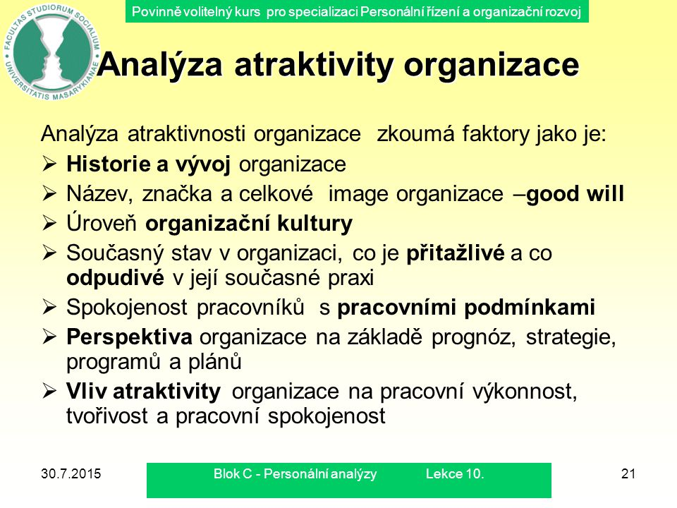 Analýza atraktivity organizace