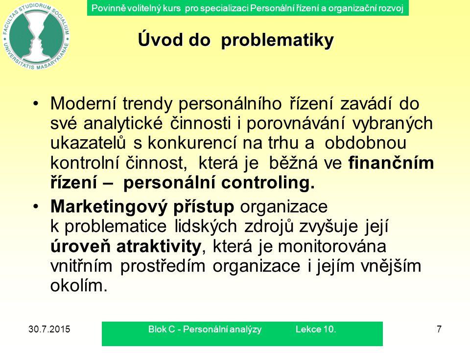 Blok C - Personální analýzy Lekce 10.