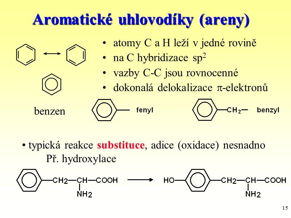 Aromatické uhlovodíky (areny)
