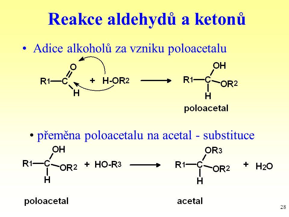 Reakce aldehydů a ketonů