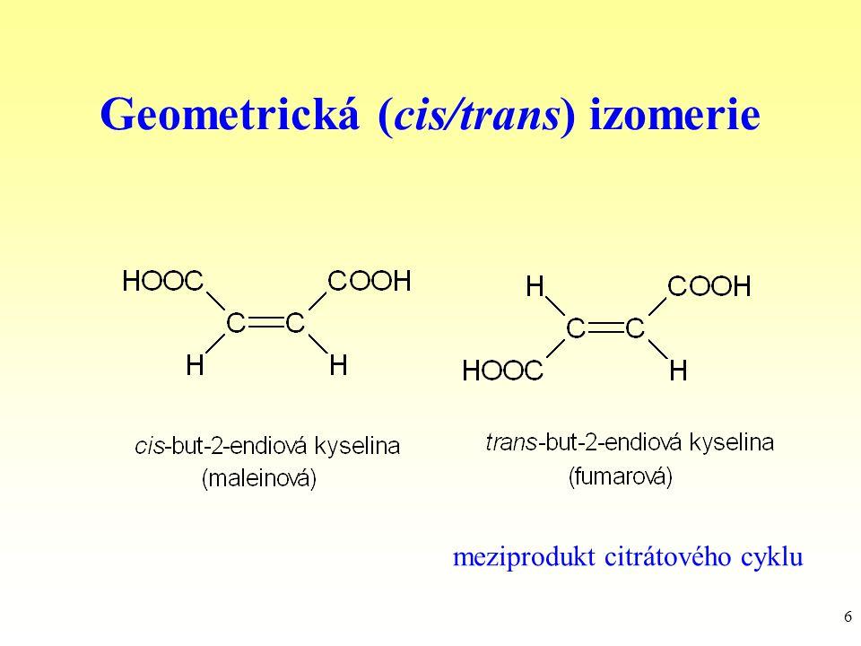 Geometrická (cis/trans) izomerie