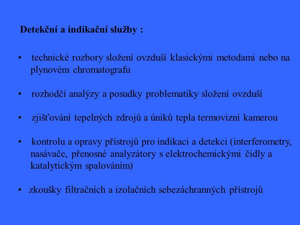 Detekční a indikační služby :
