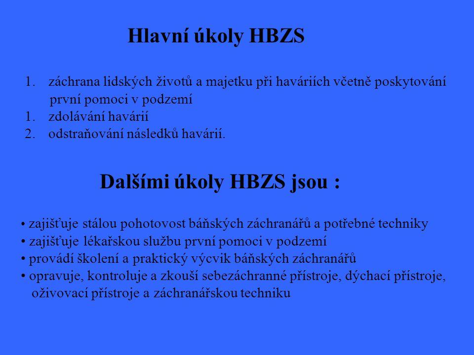 Dalšími úkoly HBZS jsou :