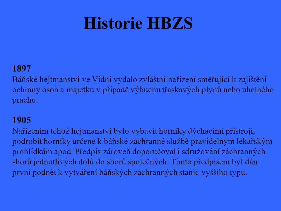 Historie HBZS 1897 Báňské hejtmanství ve Vídni vydalo zvláštní nařízení směřující k zajištění.