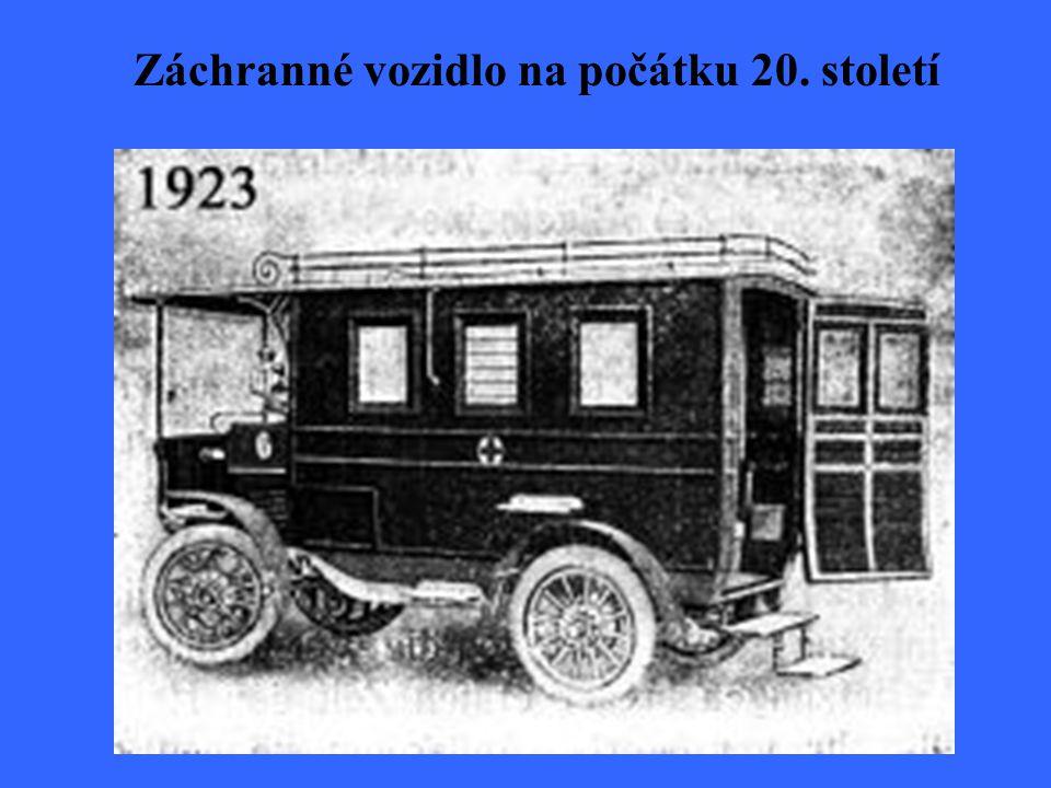 Záchranné vozidlo na počátku 20. století