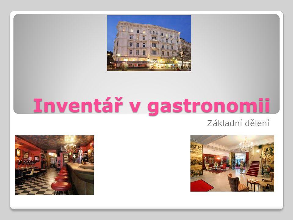 Inventář v gastronomii