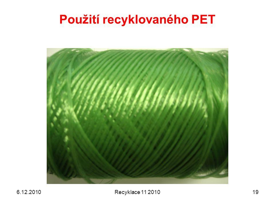 Použití recyklovaného PET