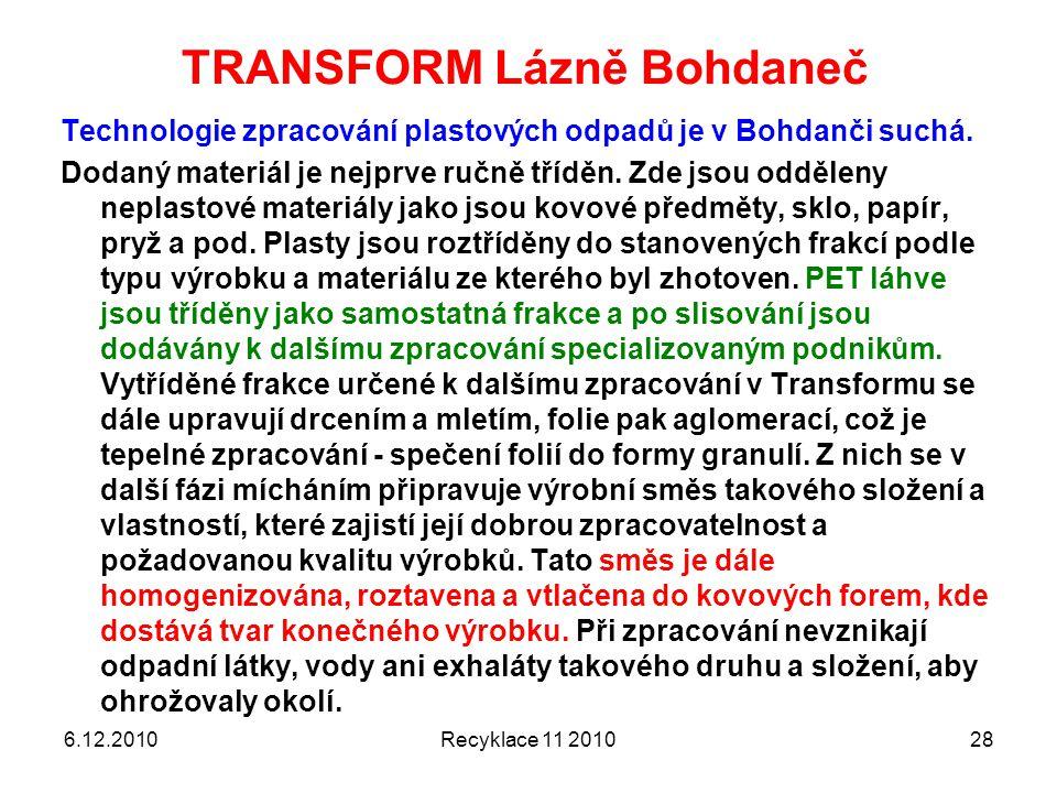 TRANSFORM Lázně Bohdaneč