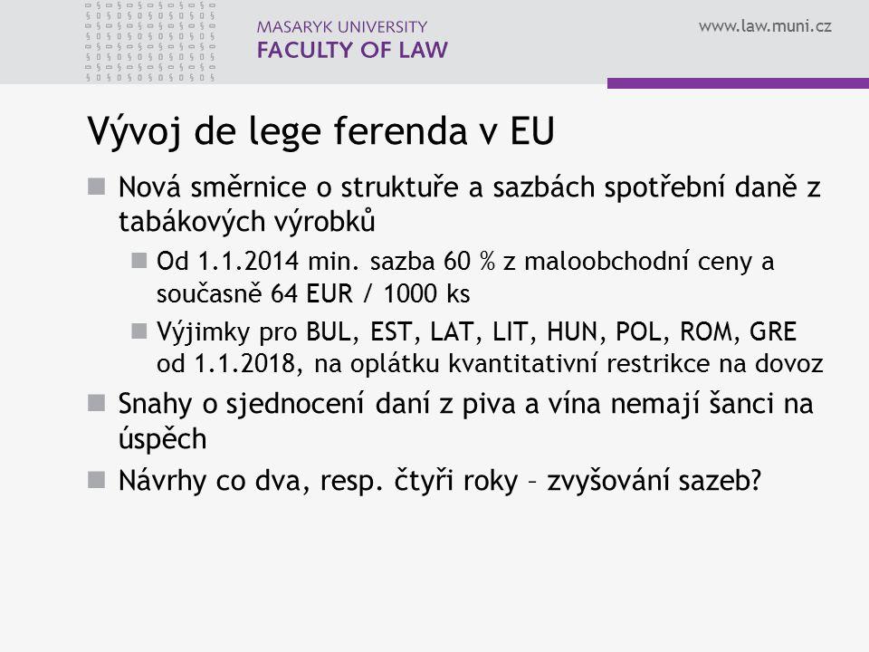 Vývoj de lege ferenda v EU
