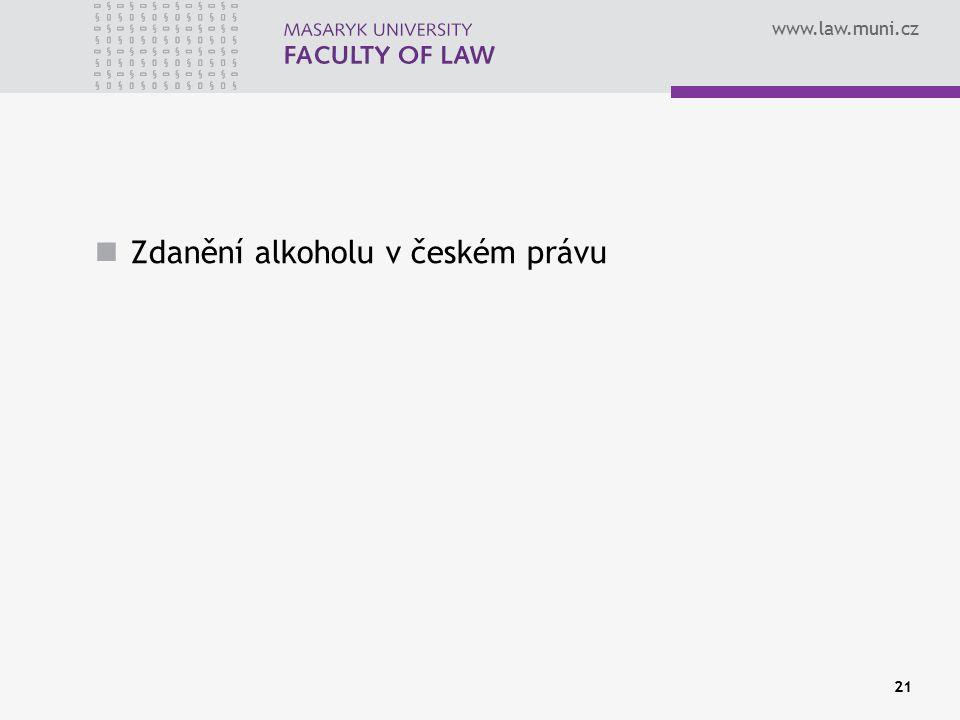 Zdanění alkoholu v českém právu