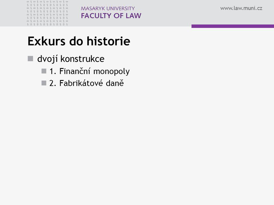 Exkurs do historie dvojí konstrukce 1. Finanční monopoly