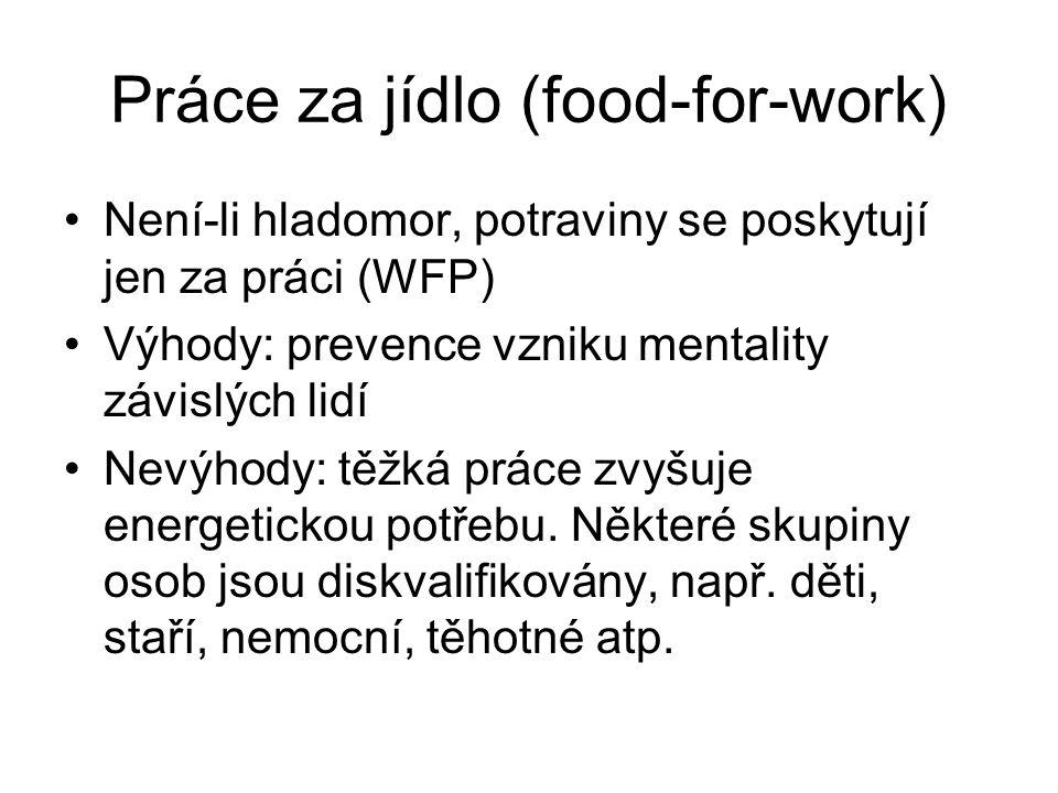 Práce za jídlo (food-for-work)