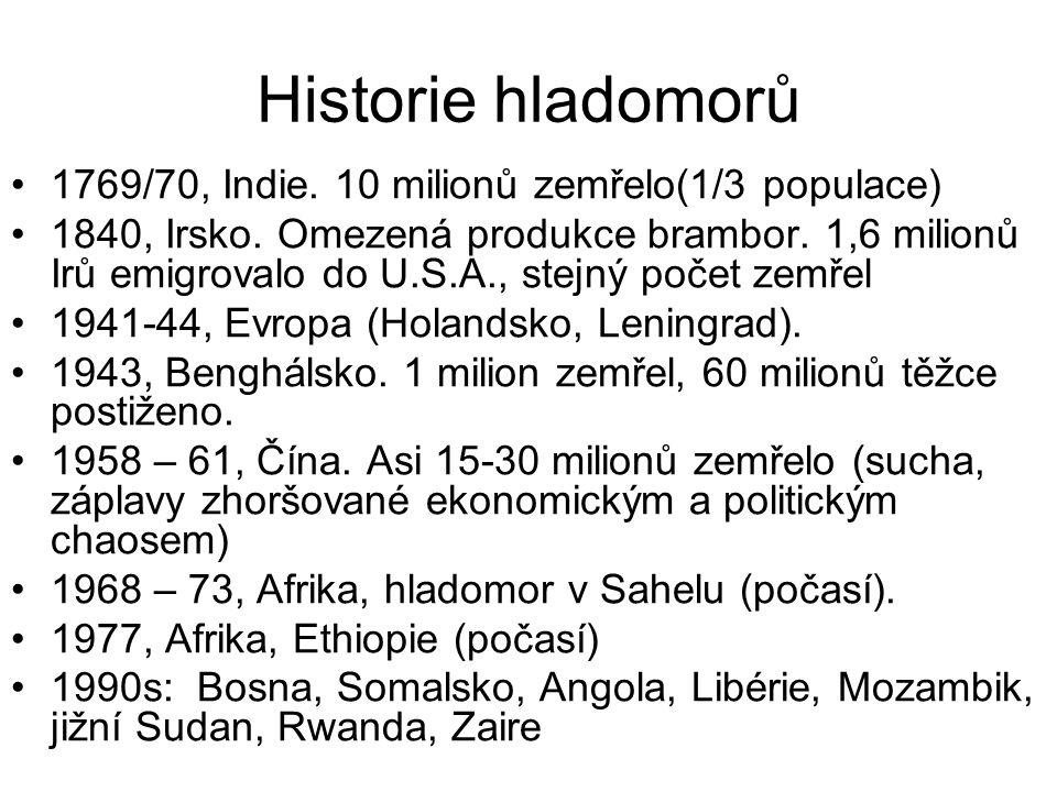 Historie hladomorů 1769/70, Indie. 10 milionů zemřelo(1/3 populace)