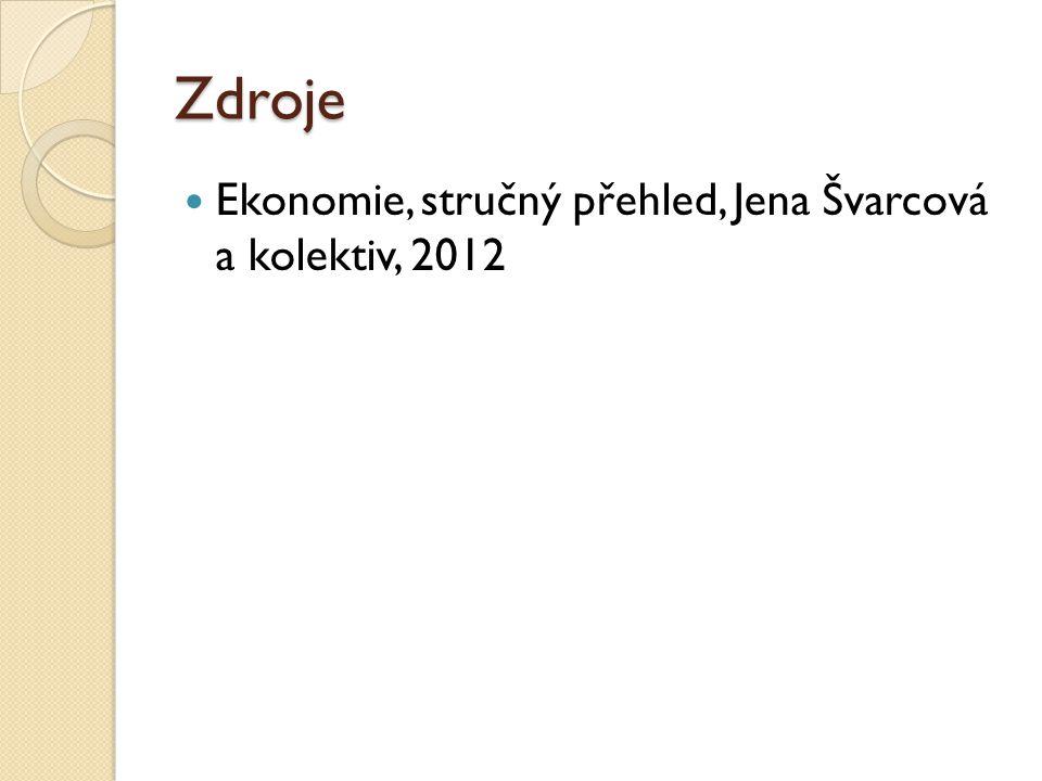 Zdroje Ekonomie, stručný přehled, Jena Švarcová a kolektiv, 2012