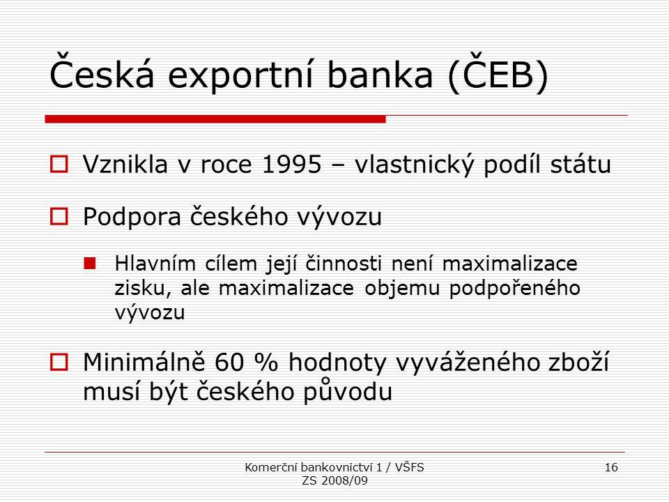 Česká exportní banka (ČEB)