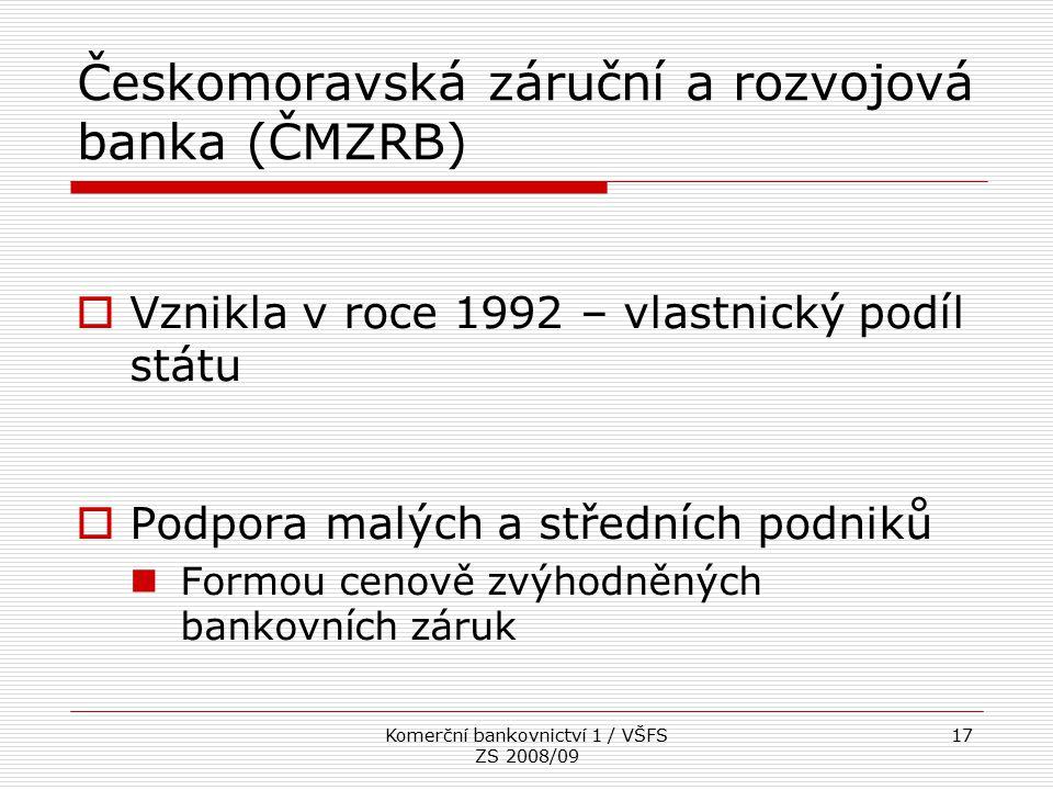 Českomoravská záruční a rozvojová banka (ČMZRB)