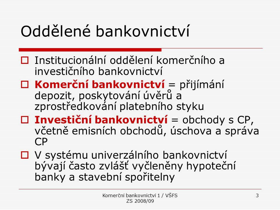Oddělené bankovnictví