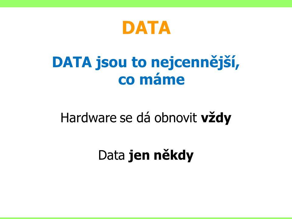 DATA jsou to nejcennější, co máme
