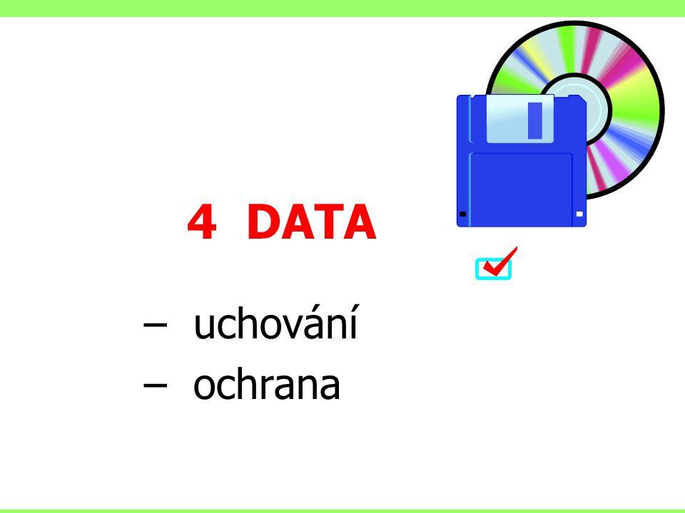 4 DATA uchování ochrana