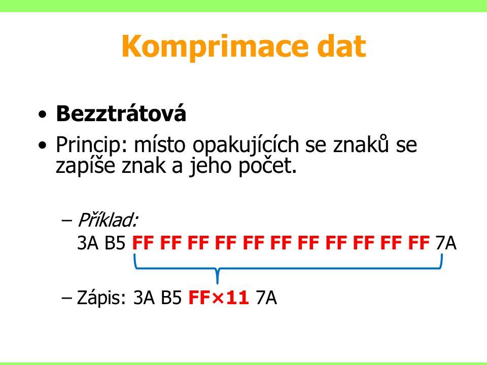 Komprimace dat Bezztrátová