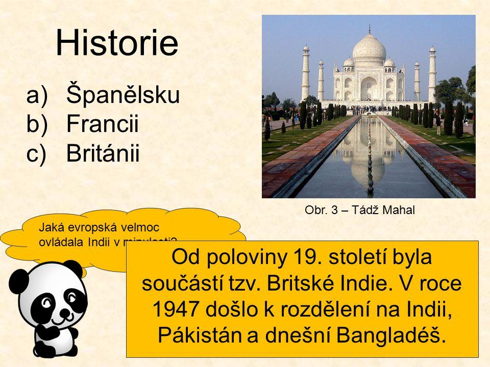 Historie Španělsku Francii Británii