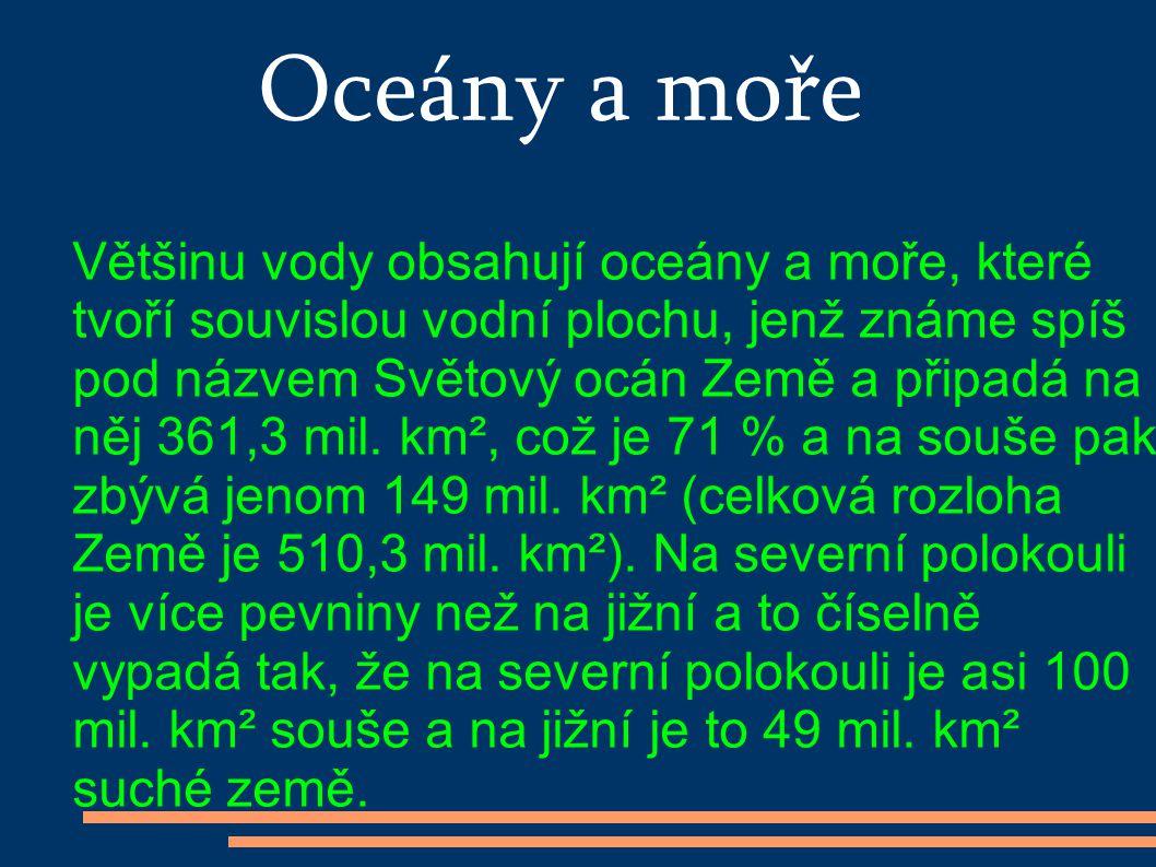 Oceány a moře